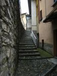 A typical village staircase (La Scala) - Via G. Bordoli leads leads down to Piazza XXV Aprile